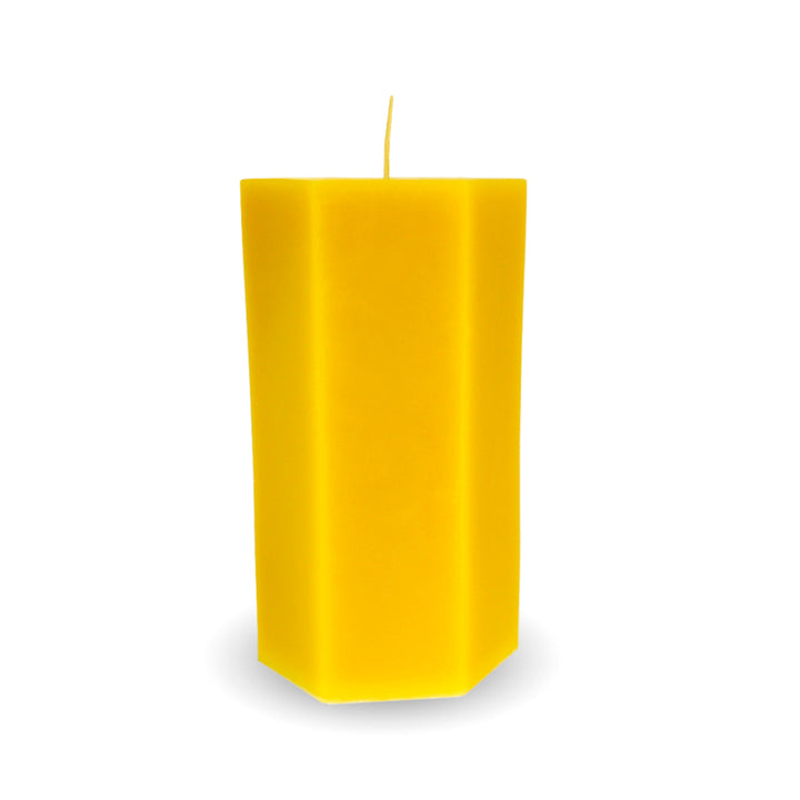 Beeswax Candle | 19.4 oz Hexagonal - Honey Blossom USA