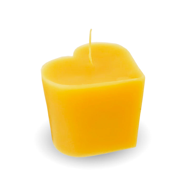 Beeswax Candle | 5.9 oz Extra Small Heart - Honey Blossom USA