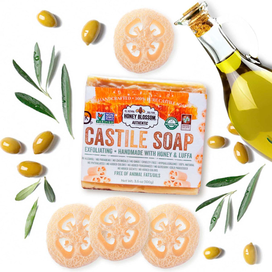 Castile Soap with Honey & Luffa