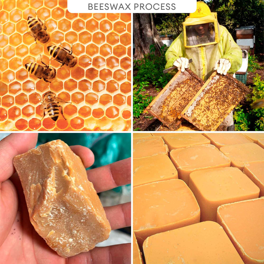 100% Beeswax Candle ALL Natural Air Purifier vs Allergies and Airborne Contaminants | 5.3 lbs Cube