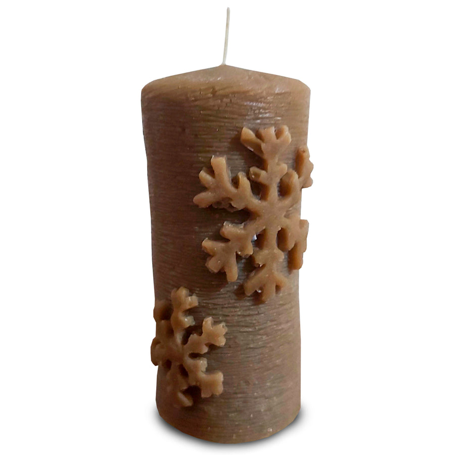 100% Candelilla Vegan Wax Candle | Snowflake Cylinder | ALL Natural Air Purifier vs Allergies and Airborne Contaminants