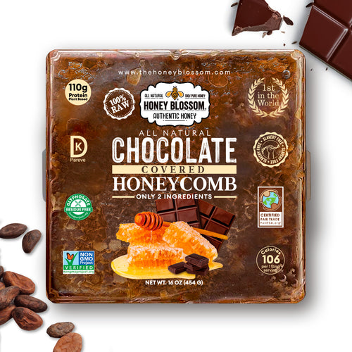Chocolate Covered 100% RAW Honeycomb - All Natural Health Immunity Booster