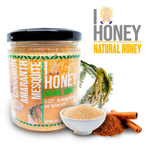 Cinnamon Infused Mesquite Honey - High Protein - All Natural Health Immunity Booster