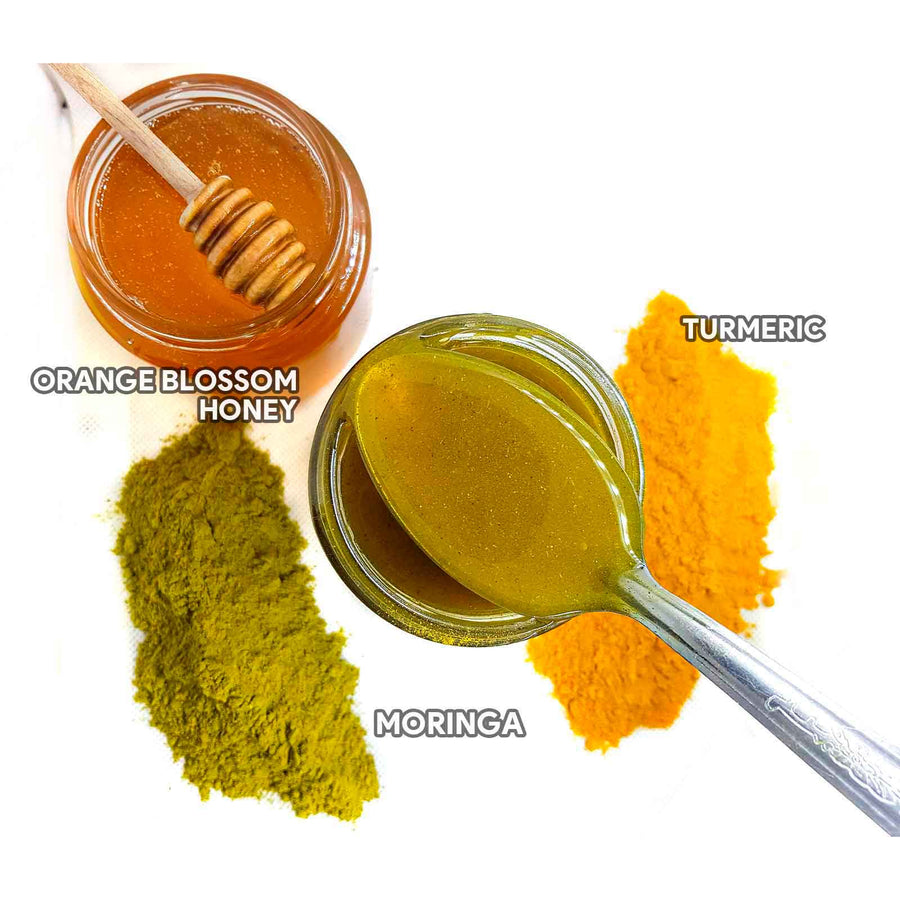 Orange, Honey, Turmeric, Moringa, Natural, Health - Honey Blossom USA
