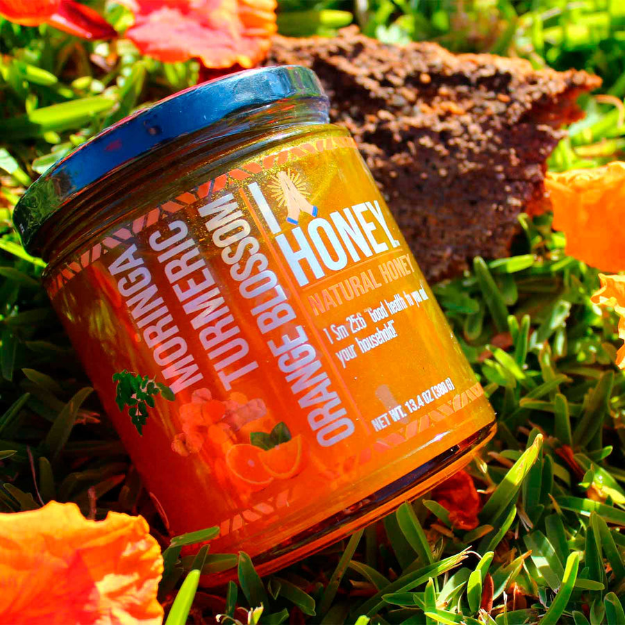Turmeric Infused Orange Blossom Honey HIGH PROTEIN ALL Natural Health Immunity Booster
