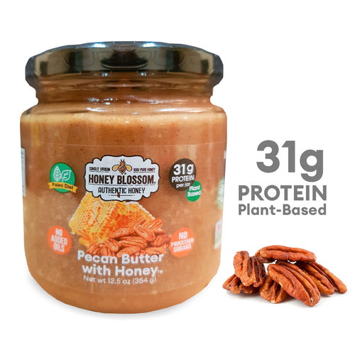 Pecan Butter with Honey - High Protein - All Natural Health Immunity Booster