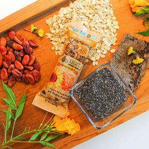 Sunflower Honey Bar 6-Pack | Oats, Honey, Chia, Cacao, Natural, Health