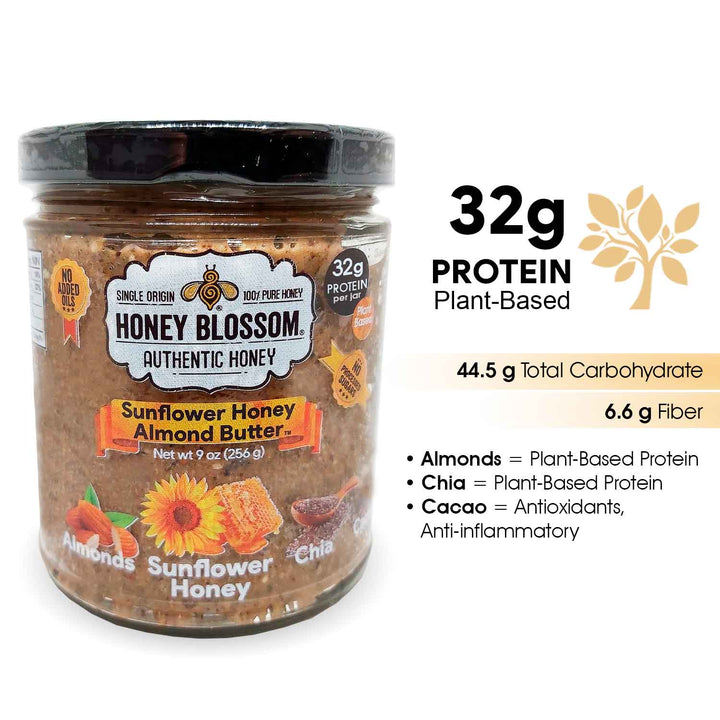 Honey, Almond, Butter, Protein, Natural, Health, Boost