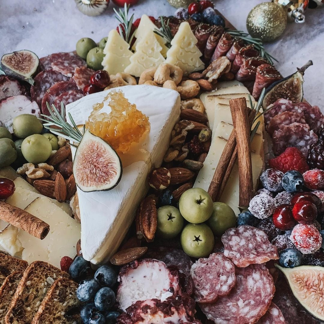 Photo of a Cheese Board with USA Honeycomb