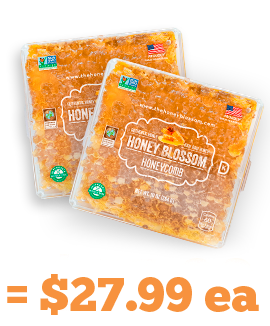 2 Honey Blossom honeycombs image, and a caption indicating its price of $27.99 each