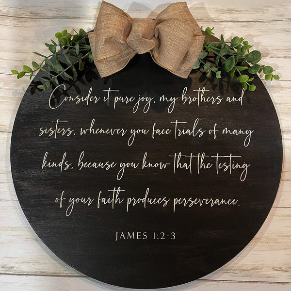 Hand Painted Scripture Wall Hanging