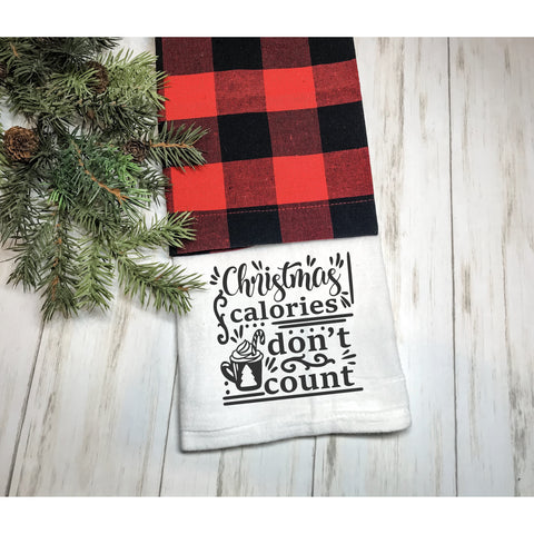 Christmas Calories Don't Count Flour Sack Towel