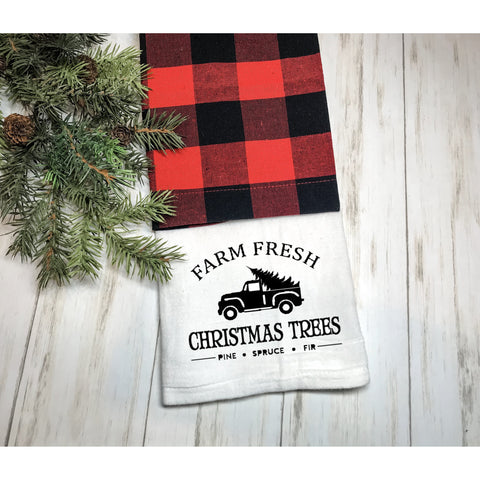 Farm Fresh Christmas Trees Flour Sack Towel
