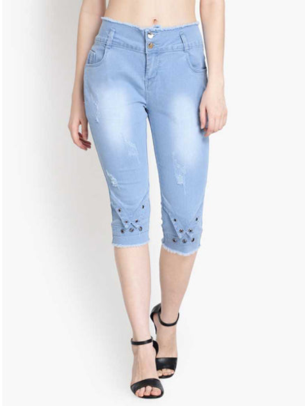 Women Denim Capri
