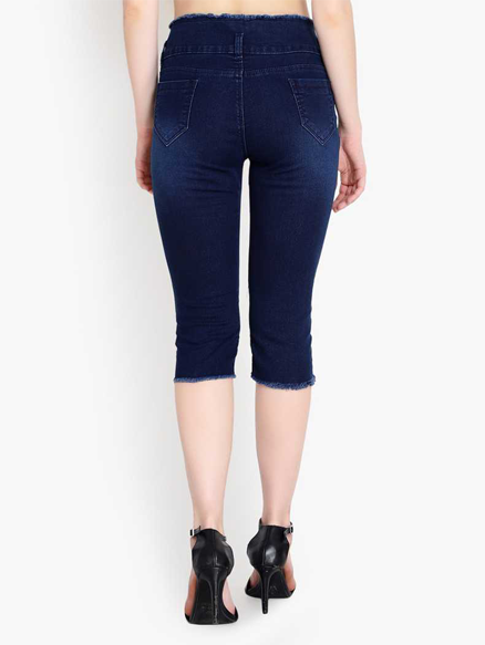 Womens Denim Capri