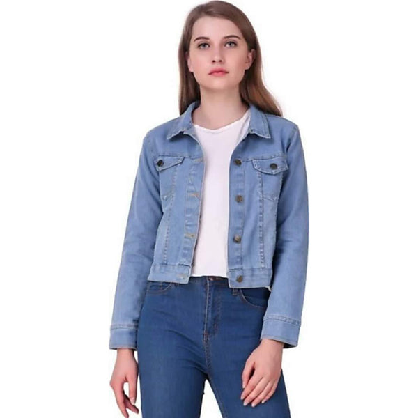 Full Sleeves Comfort Fit Collar Blue Jacket - ClubDemand