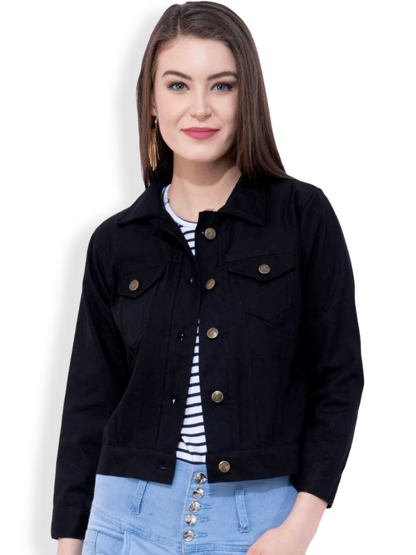 Women- Denim Black- Jacket
