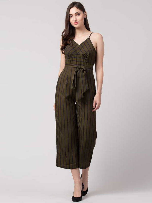 Diva Striped Women Jumpsuit