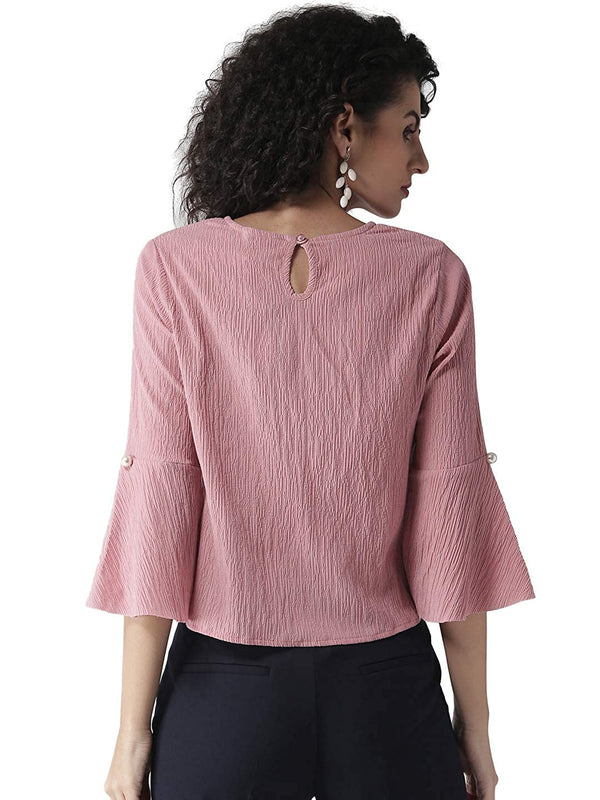 Sparta Women Pink Solid Top