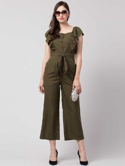 Solid Women Jumpsuit