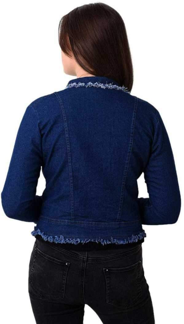 Voguish Blue Full Sleeve Women Jacket - ClubDemand