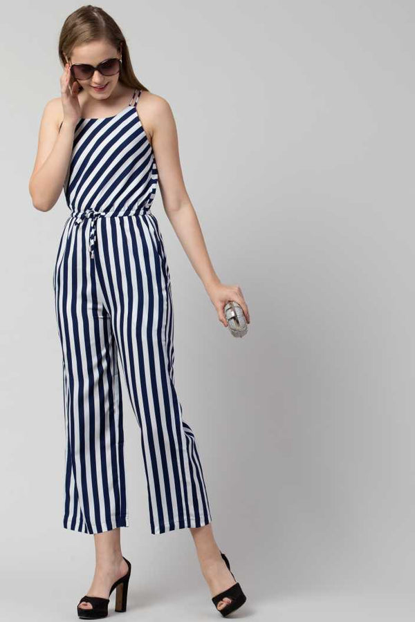 Athena Striped Jumpsuit