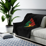 Black Power Velveteen Plush Blanket