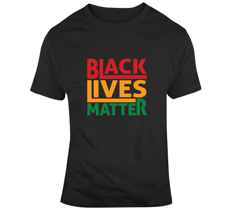 Black Lives Matter Artsy - Red Black Green T Shirt