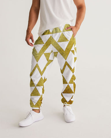 White & Gold Men's Track Pants