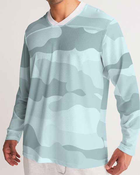 Pop Camo Men's Long Sleeve Sports Jersey