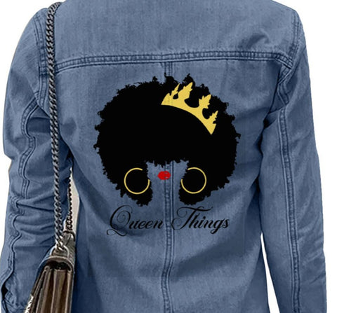 Queen Things Denim Jacket