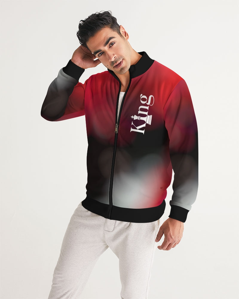 Red/Black Background Men's Track Jacket