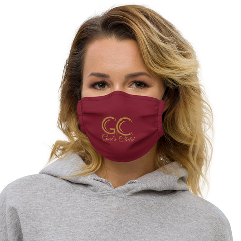 God's Child Face Mask - Maroon