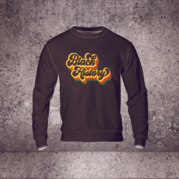 Black History Retro Lightweight Sweatshirt