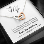 To My Wife Two Hearts Necklace