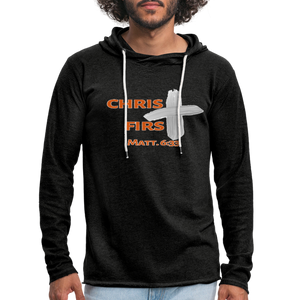 Christ First Terry Hoodie - charcoal gray