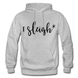 I Sleigh Funny Christmas Hoodie - heather gray