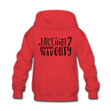Nice Until Proven Naughty Kids' Hoodie - red