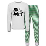 I Am Freaking Jolly PJ's - white/green stripe