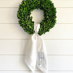 Satin Wreath Sash