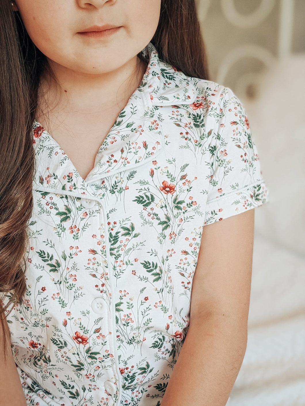 Wildflower Button Down Short Pajamas