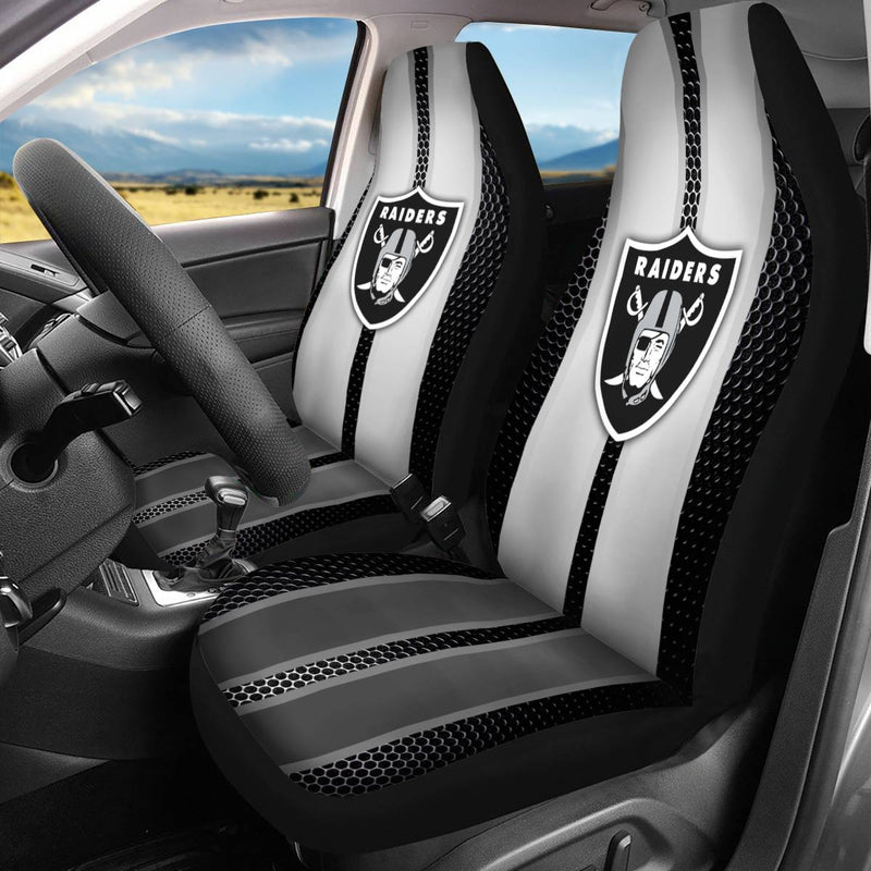 【OAKLAND RAIDERS】 CAR SEAT COVERS LIMITED EDITION!