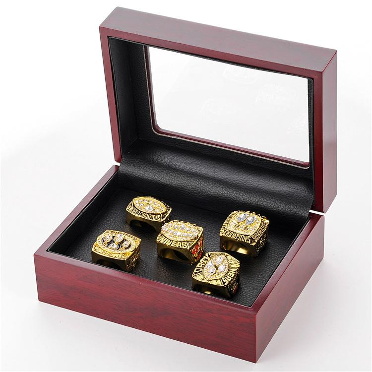 San Francisco 49ers 1981 1984 1988 1989 1994 Set of 5 champion rings