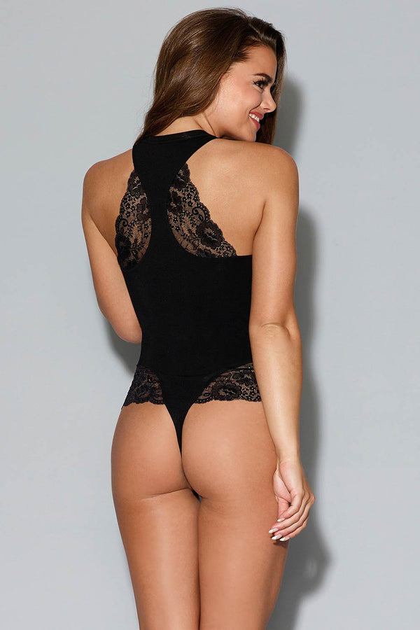 Dreamgirl Sleepwear Body - black