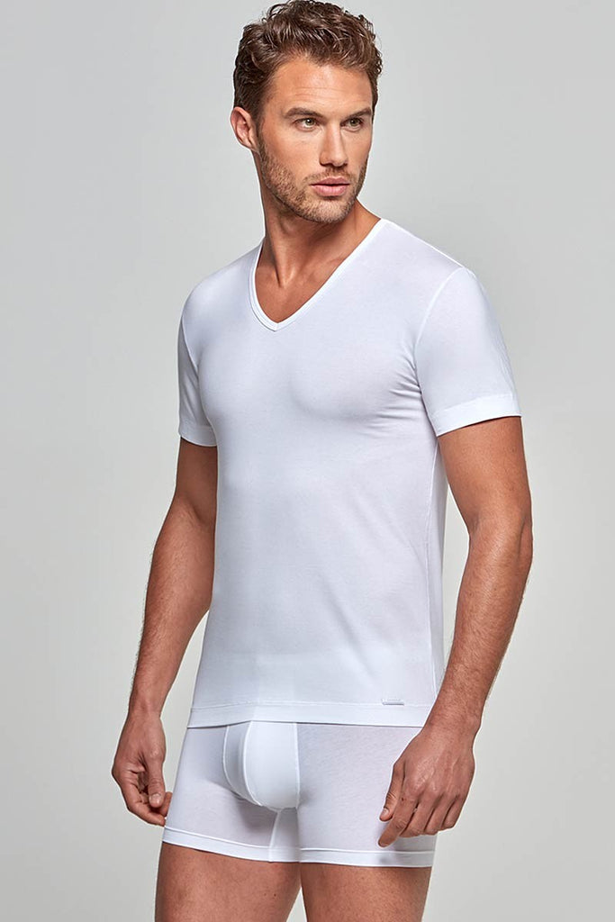 IMPETUS V-Shirt cotton premium - weiß