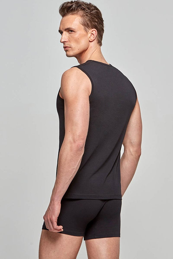 IMPETUS Singlet Cotton-Stretch - schwarz