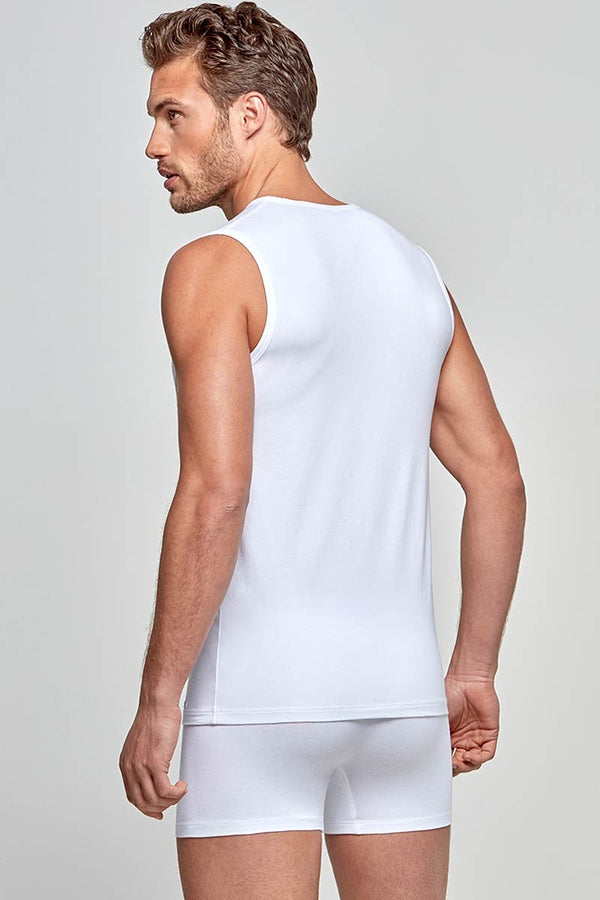 IMPETUS Singlet Cotton-Stretch - weiß