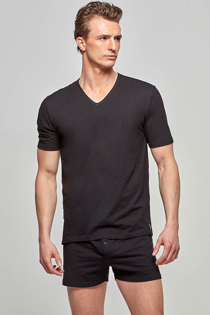 IMPETUS V-Shirt Pure Cotton - schwarz