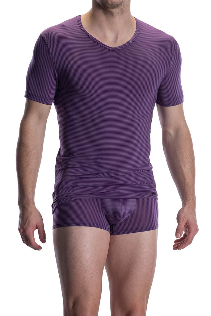 Olaf Benz RED2002 V-Neck - aubergine