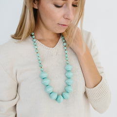 Anastasia Large Paper Bead Necklace Seafoam